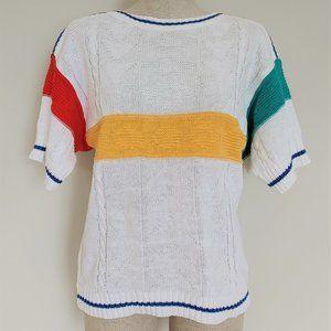 VIntage 80's River Trader Color Block Sweater Med